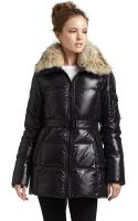 Sam. Mogul Fur Trim Puffer Jacket - Lyst