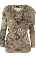 Vivienne Westwood Anglomania Printed Stretch Jersey Top - Lyst