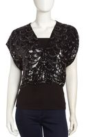 Alice + Olivia Shea Cropped Sequined Jacket - Lyst