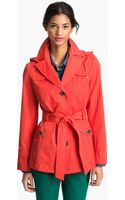 Ellen Tracy Short Trench Coat  - Lyst