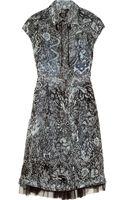 McQ by Alexander McQueen Printed Silk Chiffon Dress - Lyst