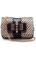 Christian Louboutin Sweet Charity Satin and Lace Bag - Lyst