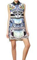 Mary Katrantzou Printed Double Georgette Silk Dress - Lyst