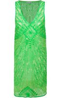 P.a.r.o.s.h. Sequin Embellished Shift Dress - Lyst