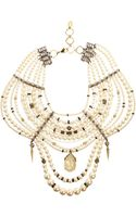 Erickson Beamon Pearl Crystal Large Girly Queen Bib Necklace - Lyst