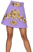 Fausto Puglisi Embroidered Wool Crepe - Lyst
