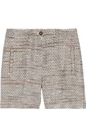Mulberry Cottonblend Bouclétweed Shorts - Lyst