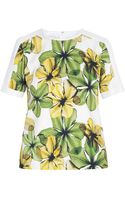 Jason Wu Floral Combo Tee Shirt - Lyst