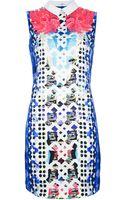 Peter Pilotto Printed Collar Dress - Lyst