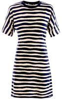 Balenciaga Stripe-Print Knitted Dress - Lyst
