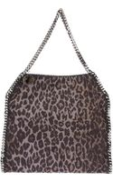 Stella McCartney Falabella Leopard Print Tote - Lyst