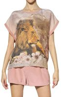 Emma Cook Printed Silk Cotton Crepe De Chine Top - Lyst
