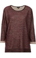 Topshop Drop Back Boucle Sweat - Lyst