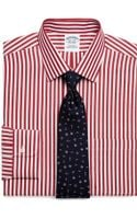 Brooks Brothers Supima Cotton Noniron Extra Slim Fit Wide Stripe Dress Shirt - Lyst
