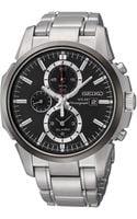 Seiko Mens Silver Chronograph Watch - Lyst