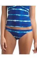Ralph Lauren Blue Label Tiedye Striped Hipster Swim Bottoms - Lyst