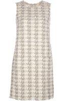 Dolce & Gabbana Dogtooth Tweed Check Dress - Lyst