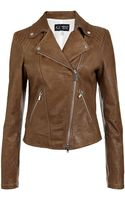 Armani Jeans Leather Biker Jacket - Lyst