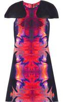 McQ by Alexander McQueen Printed Stretchsilk Dress - Lyst