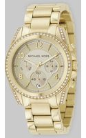 Michael Kors Stainless Steel Chronograph Bracelet Watch - Lyst