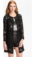 Milly Lace Coat - Lyst