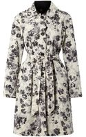 Weekend By Maxmara Elodia Reversible Trench Coat with Floral Lining - Lyst