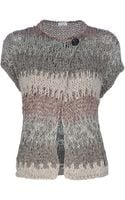 Brunello Cucinelli Mesh Knit Sweater - Lyst