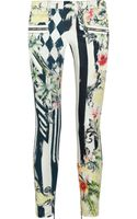 Balmain Printed Skinny Jeans - Lyst
