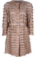 Ermanno Scervino Belted Leather Jacket - Lyst