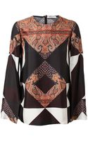 Givenchy Scarf Printed Silk Top - Lyst