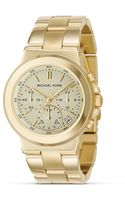 MICHAEL Michael Kors Stainless Steel Gold Plated Chronograph Watch with Bracelet Strap 38 Mm - Lyst