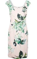 Dolce & Gabbana Floral Silk Dress - Lyst