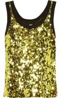D&G Sequined Tulle Top - Lyst