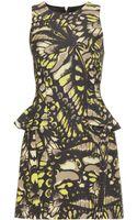 McQ by Alexander McQueen Grosgrain Print Peplum Dress - Lyst