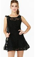 Nasty Gal Veiled Lace Dress - Lyst