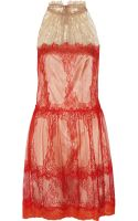 Alberta Ferretti Lace Dress - Lyst