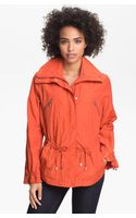 Cole Haan Drawstring Waist Jacket Petite - Lyst