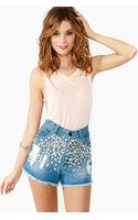 Nasty Gal Diamond Life Cutoff Shorts - Lyst