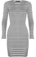Alexander Wang Striped Knit Mini Dress - Lyst