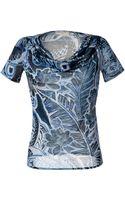 Emilio Pucci Ocean Blue-multi Printed Cotton-silk Top - Lyst