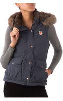 Denim & Supply Ralph Lauren Faux Fur Hood Gillet - Lyst