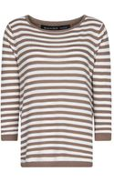 Mango Striped Cotton Sweater - Lyst