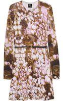 McQ by Alexander McQueen Rose Print Stretch Jersey Dress - Lyst