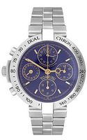 Torrini Dualchhron Dual Time Automatic Blue Chronograph Watch - Lyst