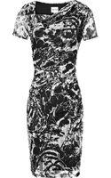 Reiss Romisa Draped Lace Bodycon Dress - Lyst