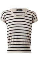 Dolce & Gabbana Striped Silk Knit - Lyst