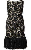 Lanvin Strapless Macramé Lace Dress - Lyst