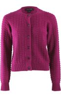 Marc Jacobs Long Sleeve Popcornknit Cardigan - Lyst