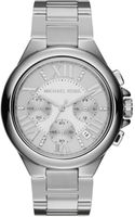 Michael Kors Silver Color Stainless Steel Camille Chronograph Glitz Watch - Lyst