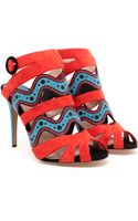Nicholas Kirkwood Leather and Suede Sandals - Lyst